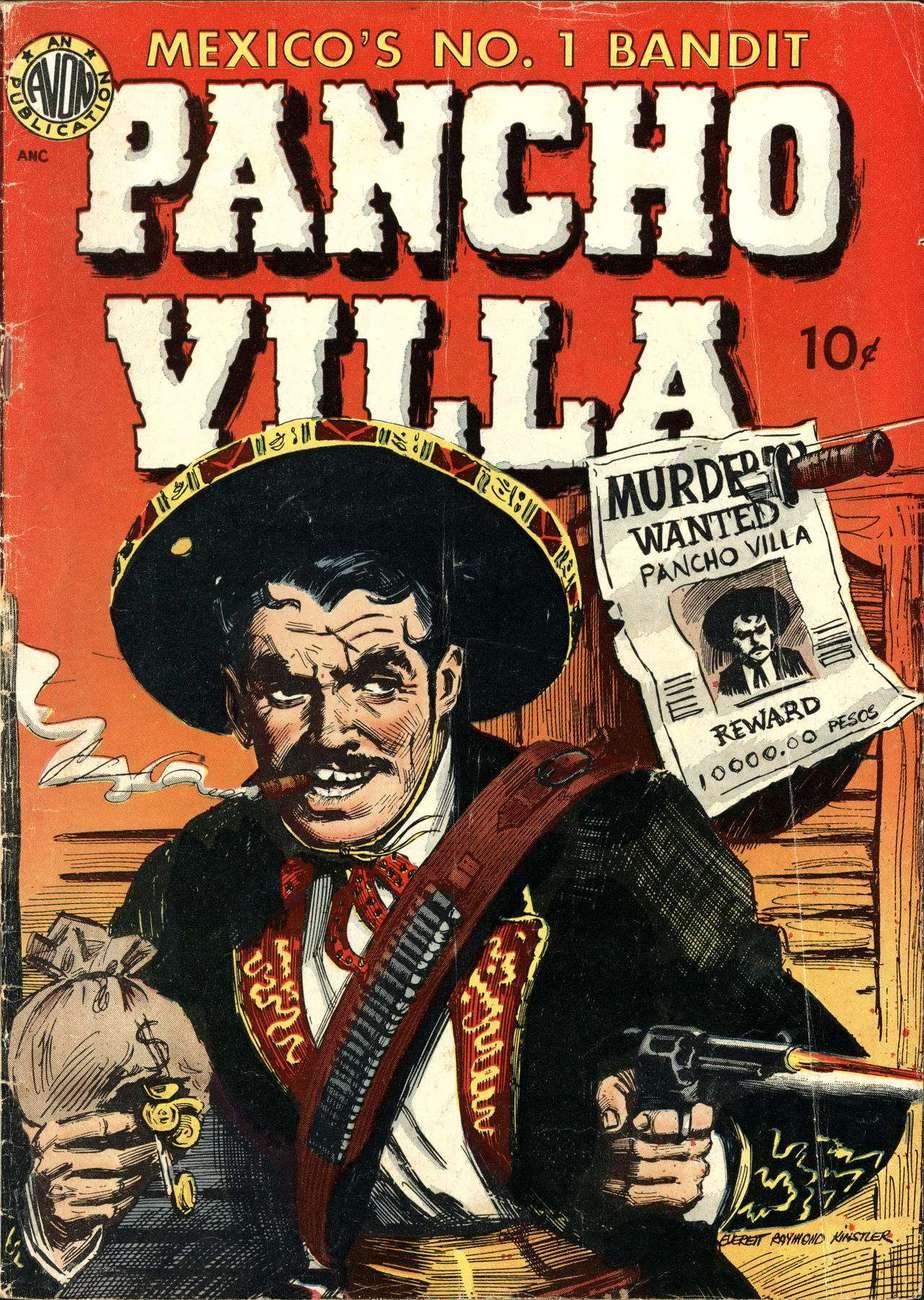 Pancho Villa jako hrdina komiksu z padesátých let