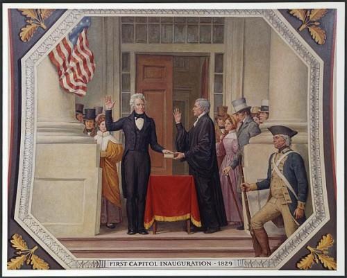 První prezidentská inaugurace Andrewa Jacksona v roce 1829