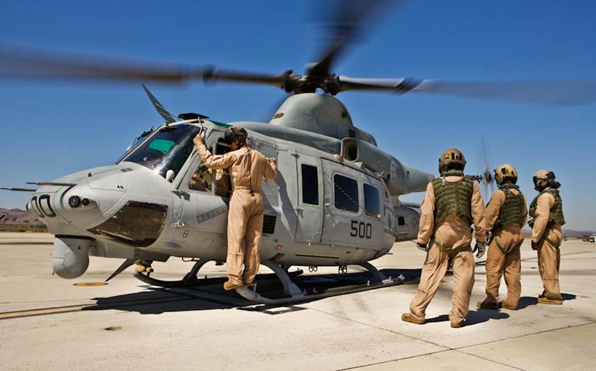 UH-1Y před startem